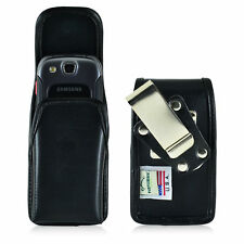 Turtleback Samsung Convoy 3 U680 Leather Phone Holster Pouch Case, Metal Clip