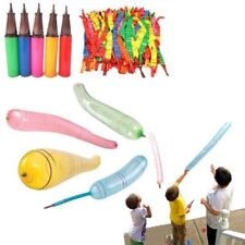 Rocket Balloons with Air Pump - Pack of 30 Flying Whistling Assorted Color...