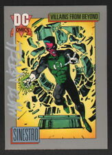 Martin Mart Nodell SIGNED 1991 DC SIGNED Green Lantern Art Card ~ SINESTRO
