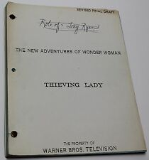 Wonder Woman * 1977 Original RARE TV Show Script * Episode Posing as jewel thief