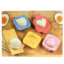 4pc FUN EGG UOVA STAMPO STAMPINI BENTO SUSHI RISO ROLL MUFFA Kids Lunchbox