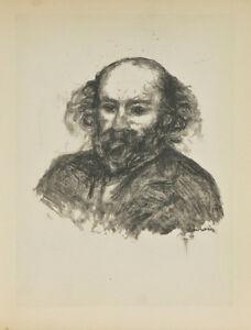 """""""Paul Cezanne"""" By Fernand Mourlot After Renoir Lithograph LE #2709/3000"""