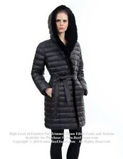 * Down Coat Jkt Parka w/ Mink Fur & Rabbit sz XL  US 12 EU 44 $895 Пуховик Норка