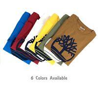 Timberland Men's Short Sleeve Tree Logo Organic Cotton T-Shirt A1LCC