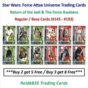 """Topps"" Star Wars: Force Attax Universe: - Regular / Base Cards (#145 - #192)"