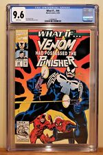 """WHAT IF #44 CGC 9.6 - WHITE PAGES ** VENOM HAD POSSESSED """"THE PUNISHER"""" **"""
