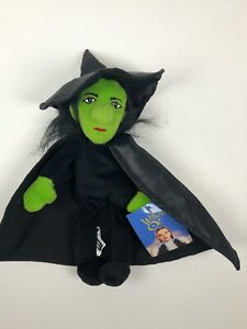 Wizard of Oz Witch Vintage Plush Beanie Doll Warner Bros. Collectible 1998