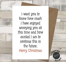 CHRISTMAS CARD HUSBAND WIFE GIRLFRIEND BOYFRIEND XMAS ADULT HUMOUR Funny Rude/PL