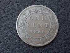 Canada 1 cent 1859 Queen Victoria