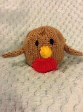 KNITTING PATTERN - Christmas robin chocolate orange cover or toy