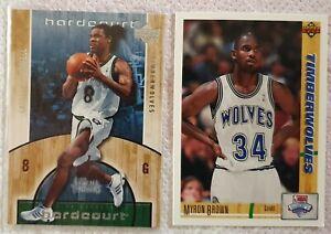 Lot de 2 Cartes Basketball NBA Minnesota Timberwolves Sprewell Hardcourt 2005-06