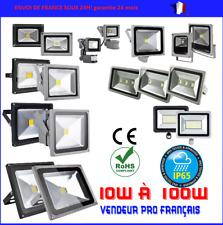 PROJECTEUR LED exterieur BLANC PUR avec ou sans detecteur 10  30 50 100 200 WATT