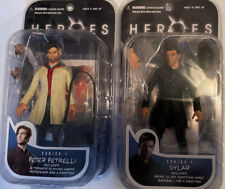 NEW SEALED SYLAR AND PETER PETRELLI HEROES 2007 SERIES 1 MEZCO TOYS FIGURE!