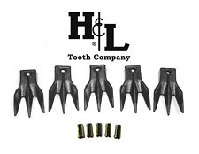 6737325 TR3 Triple Tiger Trident Bobcat Style Bucket Teeth (5 Pack) by H&L Tooth