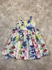 Emily West Girls Multi-Color Floral Sleeveless Jumper Dress w/ Ribbon Sz 10