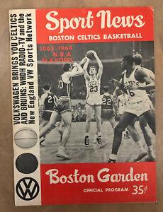 1964 NBA FINALS CLINCHER Game 5 SAN FRANCISCO WARRIORS @ BOSTON CELTICS PROGRAM