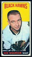 1964-65 TOPPS HOCKEY TALL BOYS #28 KEN WHARRAM VG-EX SP CHICAGO BLACK HAWKS Card