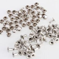 50 Borchie Rivetti Bottoni Rotondo Rivets Bricolage Scarpa Borsa 4mm