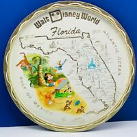 Walt Disney World vintage tray mickey mouse gulf mexico pooh donald duck decor