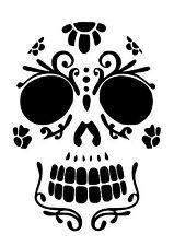High Detail Sugar Skull Airbrush Stencil - Free UK Postage