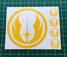 Sticker Decals Star Wars Jedi Yellow fit Cars Bus Lorry Tablets Helmet Wall