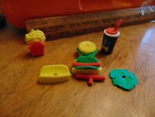 Vintage Gumball/Vending Chunky Food Toys hot dogs, burger, Classic cola drink