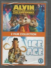 ICE AGE & ALVIN AND THE CHIPMUNKS - sealed/new UK R2 DVD SET