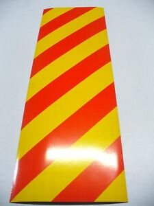 2pcs Highway Reflective White & Yellow & Chevron Magnetic Sheet, Safety Signs