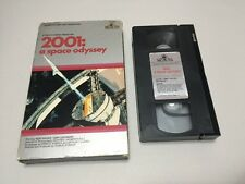 VINTAGE VHS Video Tape 2001 A Space Odyssey RARE Big Box - Kubrick - CBS Video