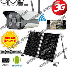 Home Security Camera Solar Farm 3G GSM IP Alarm System Wireless Remote Monitor