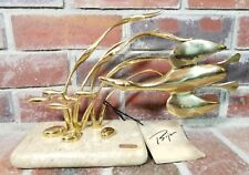 Rare 1980 Bijan Golden Polished Bronze/Baked Enamel Marble Base Art Sculpture
