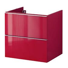 IKEA GODMORGON lavabo avec meuble 60x47x58 évier de dessous Rouge NEUF