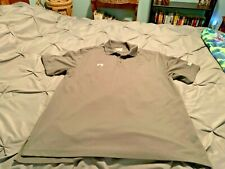 UNDER ARMOUR Men's Gray Short Sleeve Polo Shirt. Size Large USA FREE SHIPPING