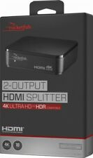 Rocketfish™ 2-Output HDMI Splitter with 4K and HDR Pass-Through - Black RF-G1603