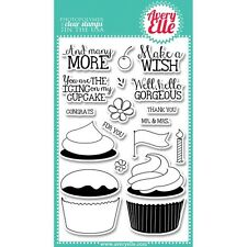 Avery Elle Cupcakes Clear Photopolymer Stamps Birthday Make A Wish