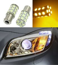 ✔ 1156 BA15s P21W S25 27 SMD LED Indicator FOG & Signal bulbs AMBER YELLOW