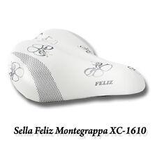 SELLA SELLINO BICI BICICLETTA MONTEGRAPPA FELIZ MODELLO XC-1610 BIANCA