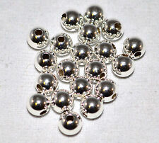 .925 Sterling Silver 3mm Round Smooth Beads Spacer Jewelry Finding Craft 50Pk