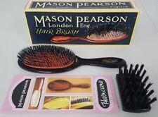Mason Pearson Junior BN2 Medium Bristle Nylon Hairbrush Dark Ruby Used Defect