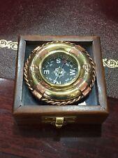 Bussola nautica idea regalo prezzo scontato cassetta in legno e vetro