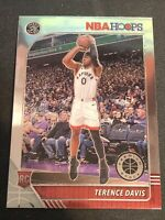 TERENCE DAVIS 2019-20 NBA HOOPS PREMIUM STOCK BASE ROOKIE RC #257 - RAPTORS