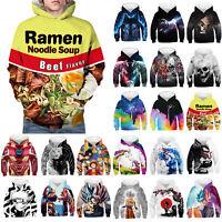 Kids Boys Girls Funny Graphic Hoodies Long Sleeve Hooded Sweatshirt Pullover Top