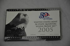 2005 US Silver Proof 5 coins 50th States Quarters Set