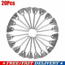 20PCS Wire Brushes Stainless Steel Dremel Tool Rotary Die Grinder Removal Wheel