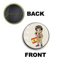 PINS PIN SPILLA 2,5 CM AXIS POWERS HETALIA SOUTH SPAIN