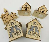 5 Holzhäuser * Weihnachten  *Neu & unbenutzt & beleuchtbar