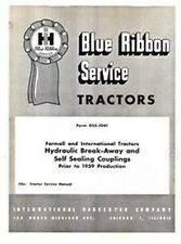 International Tractor Hydraulic Break Away Coup. Manual