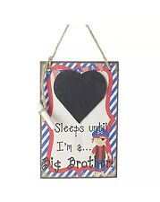 Days Until Big Brother Countdown Chalkboard Baby Countdown Plaque Pirate Themed