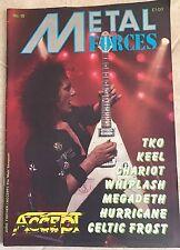 RARE Metal Forces Magazine No. 18 UK 1986 Accept  Megadeth Celtic Frost Heavy