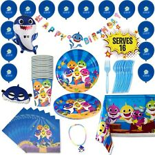 Innohero Shark Birthday Party Supplies for Baby Boys & Girls 79 Pieces 16 Guests